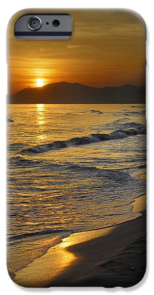 Malaga iPhone Cases - Last sunset of the summer iPhone Case by Guido Montanes Castillo