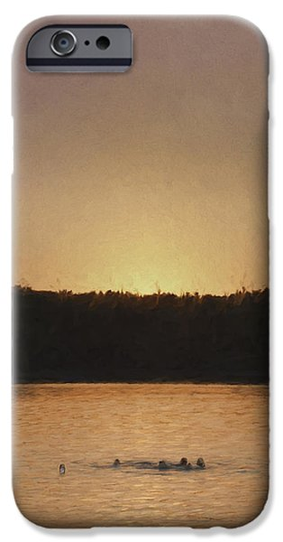 Recently Sold -  - Walden Pond iPhone Cases - Last Swim iPhone Case by Jean-Pierre Ducondi