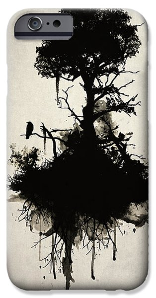 Smoke iPhone Cases - Last Tree Standing iPhone Case by Nicklas Gustafsson