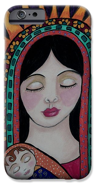 Bonding Paintings iPhone Cases - Lasting Love Of A Mother iPhone Case by Tori Radford
