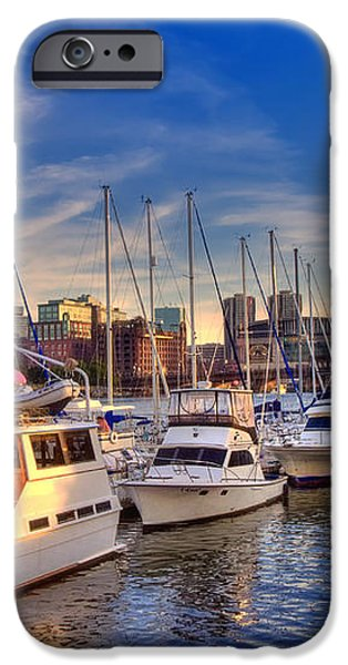 Late Afternoon at Constitution Marina - Charlestown iPhone Case by Joann Vitali