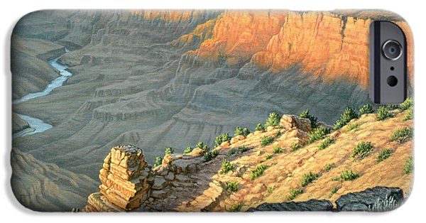 Grand Canyon iPhone Cases - Late Afternoon-Desert View iPhone Case by Paul Krapf