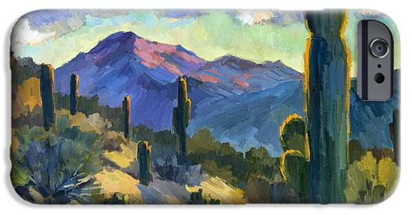 Recently Sold -  - River iPhone Cases - Late Afternoon Tucson iPhone Case by Diane McClary