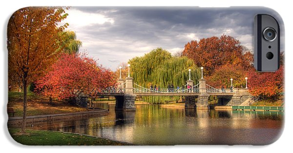 Park Scene iPhone Cases - Late Autumn iPhone Case by Joann Vitali