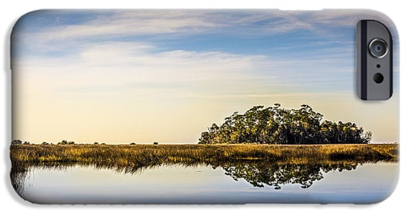 Wetlands iPhone Cases - Late Day Hammock iPhone Case by Marvin Spates
