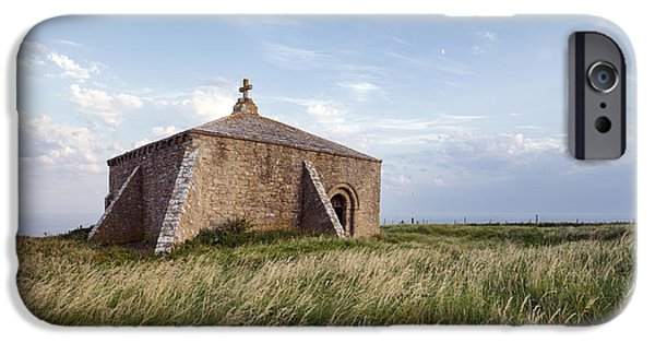 Historic England iPhone Cases - Late Evening at St Aldhelms Chapel in Dorset iPhone Case by Helen Hotson