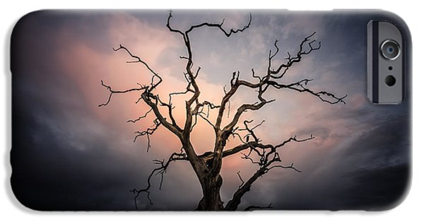 Fletcher iPhone Cases - Late evening cloud display iPhone Case by Chris Fletcher