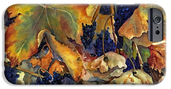 Fall iPhone Cases - Napas September Song iPhone Case by Maria Hunt