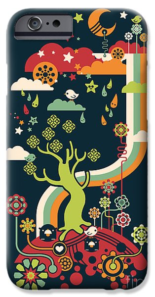 Rainbow Colors iPhone Cases - Late night party iPhone Case by Budi Satria Kwan