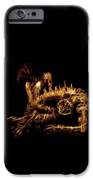 Abstract Digital Mixed Media iPhone Cases - Late Regrets iPhone Case by Marian Voicu