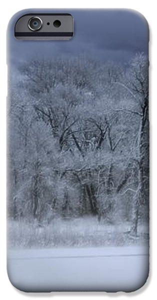 Late Snow at the Rio Grande iPhone Case by Ellen Heaverlo