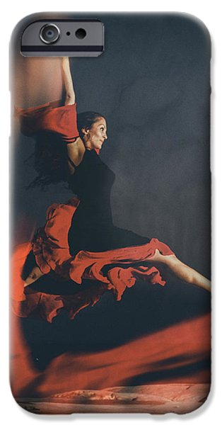 latin dancer iPhone Case by Stylianos Kleanthous