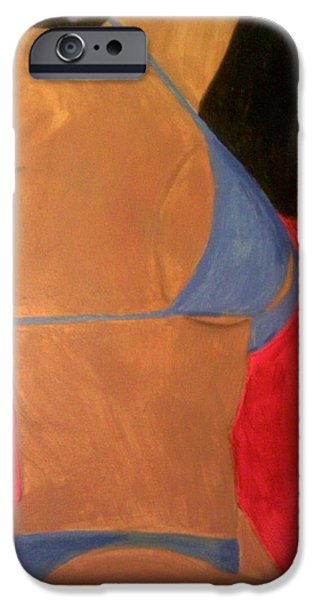 Bathing Mixed Media iPhone Cases - Latino Babe iPhone Case by Cynthia Walker-Wiggins
