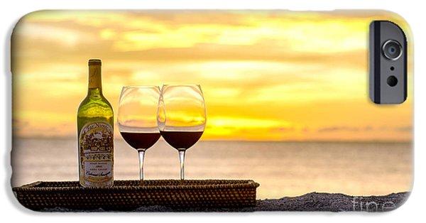 Wine Bottles iPhone Cases - Latitudes iPhone Case by Jon Neidert