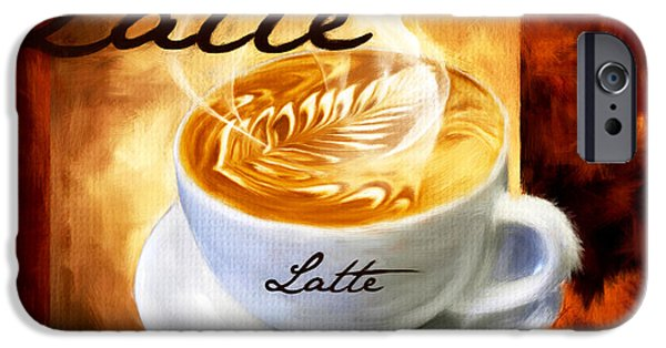 Decorative Digital Art iPhone Cases - Latte iPhone Case by Lourry Legarde