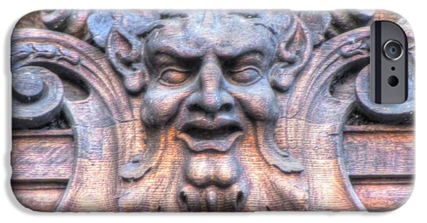 Swiss Pyrography iPhone Cases - laugh street Stokholm Swiss iPhone Case by Yury Bashkin
