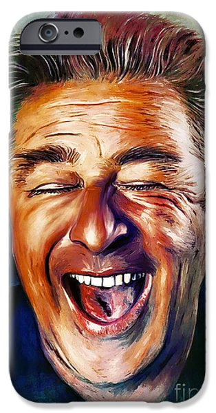 Handsome People iPhone Cases - Laughter is the Best Medicine iPhone Case by Andrzej Szczerski