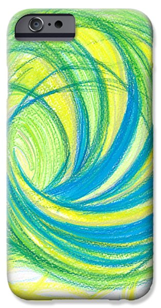 Thought Drawings iPhone Cases - Launch yourself on every wave iPhone Case by Kelly K H B