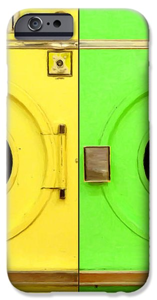 Laundromat Drying Machines Two 20130801a iPhone Case by Wingsdomain Art and Photography
