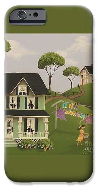 Laundry Day iPhone Case by Catherine Holman
