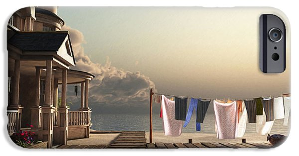 Beige iPhone Cases - Laundry Day iPhone Case by Cynthia Decker