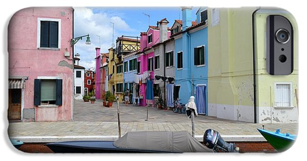 Canal Street Line iPhone Cases - Laundry Day In Burano Venice 2 iPhone Case by Ana Maria Edulescu