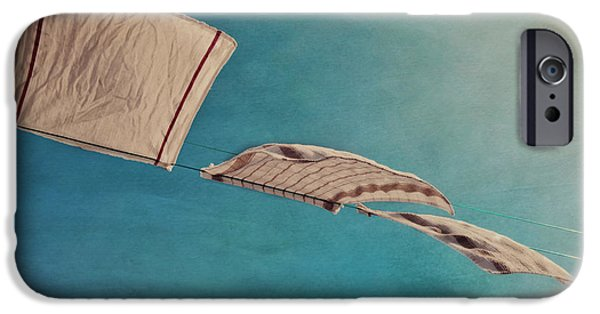 Windy iPhone Cases - Laundry Day iPhone Case by Priska Wettstein