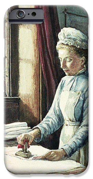 Laundry Maid iPhone Case by English School
