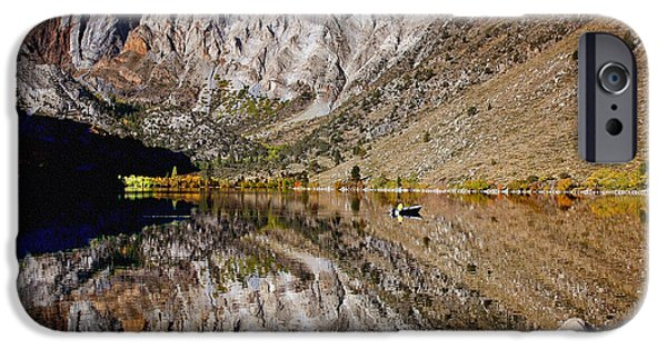 Hightower iPhone Cases - Laural Mountain Convict Lake California iPhone Case by  Bob and Nadine Johnston