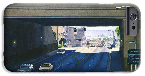 Ambulance iPhone Cases - Laurel Street Bridge San Diego iPhone Case by Mary Helmreich