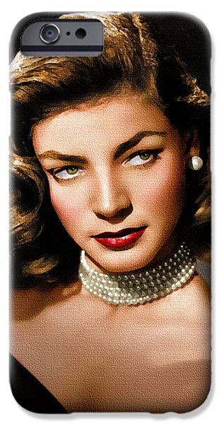 Lauren Bacall iPhone Case by Allen Glass