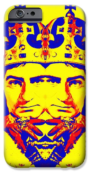 Drama Mixed Media iPhone Cases - Laurence Olivier double in Richard III iPhone Case by Art Cinema Gallery