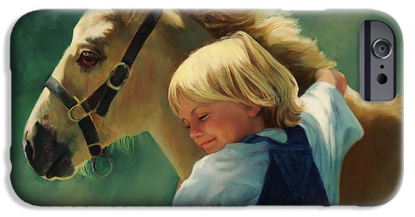 Filly iPhone Cases - Laurens Pony iPhone Case by Laurie Hein