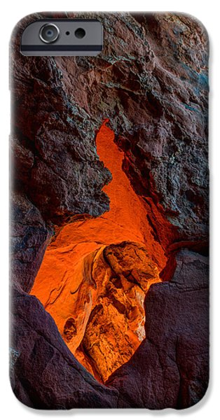 Red Rock iPhone Cases - Lava Glow iPhone Case by Chad Dutson