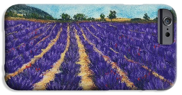 Rural iPhone Cases - Lavender Afternoon iPhone Case by Anastasiya Malakhova