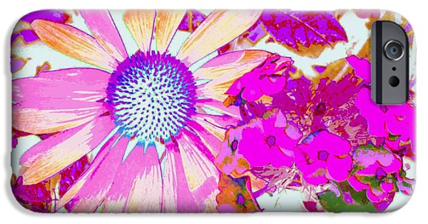 Willow Lake iPhone Cases - Lavender Echinacea iPhone Case by Annie Zeno