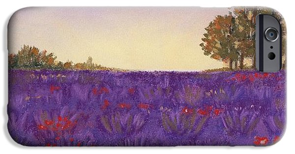 Rhone Alpes iPhone Cases - Lavender Evening iPhone Case by Anastasiya Malakhova