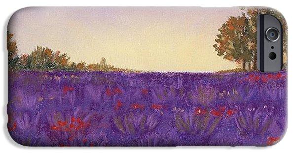 Nature Scene Pastels iPhone Cases - Lavender Evening iPhone Case by Anastasiya Malakhova