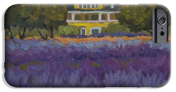 Lavender iPhone Cases - Lavender Farm on Vashon Island iPhone Case by Diane McClary