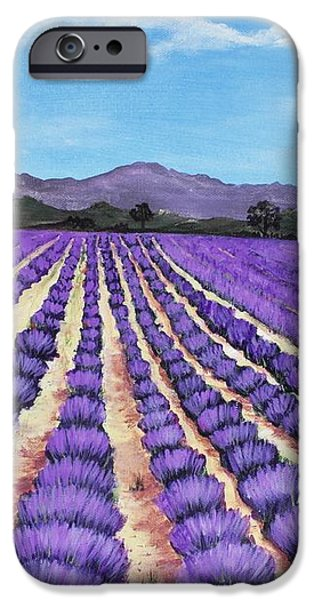 Lavender Field in Provence iPhone Case by Anastasiya Malakhova