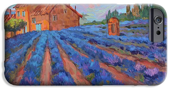 Village iPhone Cases - Lavender Field Provence iPhone Case by Diane McClary