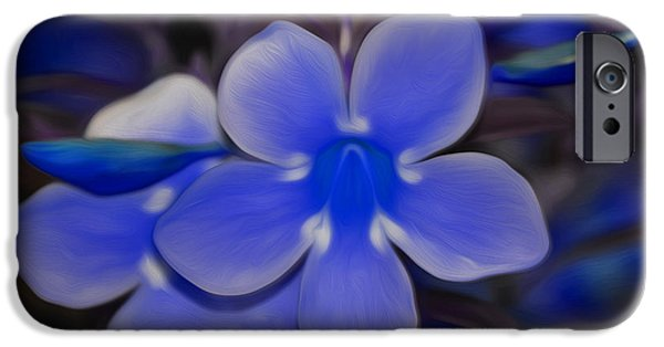 Painter Photo Mixed Media iPhone Cases - Lavender Flower iPhone Case by Jimi Bush