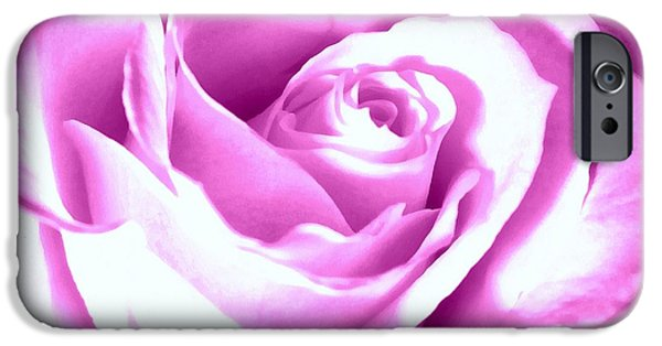 Fushia iPhone Cases - Lavender Rose  iPhone Case by Janine Riley