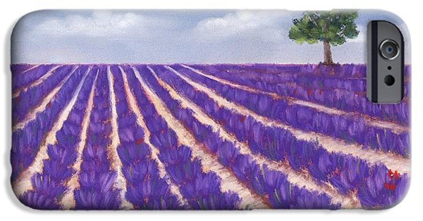 Florals Pastels iPhone Cases - Lavender Season iPhone Case by Anastasiya Malakhova