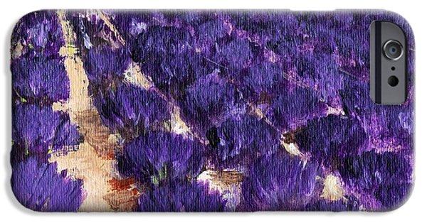 Rhone Alpes iPhone Cases - Lavender Study - Marignac-en-Diois iPhone Case by Anastasiya Malakhova