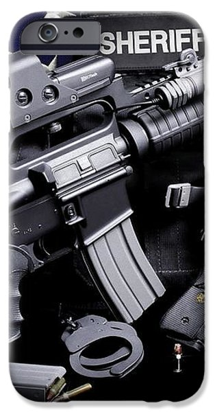 Law Enforcement Tactical Sheriff iPhone Case by Gary Yost
