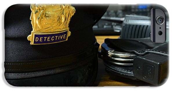 Law Enforcement iPhone Cases - Law Enforcement - The Detective  iPhone Case by Paul Ward