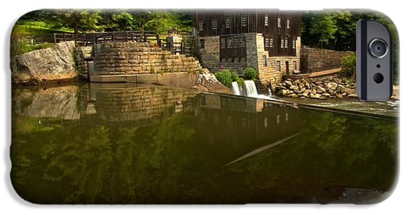Grist Mill iPhone Cases - Lawrence County Grist Mill iPhone Case by Adam Jewell