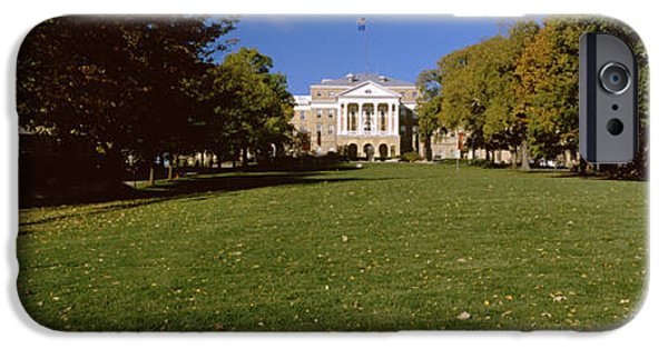 Built Structure iPhone Cases - Lawn In Front Of A Building, Bascom iPhone Case by Panoramic Images