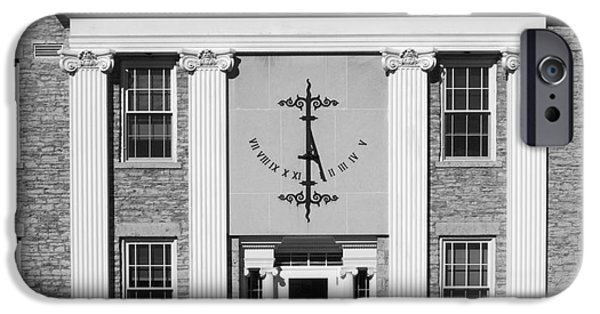 Appleton Photographs iPhone Cases - Lawrence University Main Hall Sundial iPhone Case by University Icons